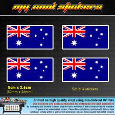 4 x 5cm Australian Flag Vinyl Sticker Decal car helmet window bumper Australia