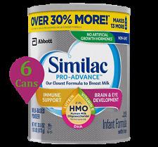 6 Similac cans Pro Advance Baby Formula 30.8 oz Non Gmo