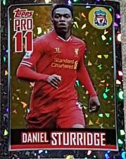 181 DANIEL STURRIDGE Liverpool 2013/2014 TOPPS Premier League ADESIVI Shiny