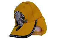 Native American Eagle Indian Native Pride Shadow Yellow Ball Cap Hat