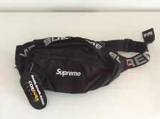 SUPREME SS18 waist bag black new with verified X authentic tag