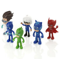 PJ Masks Action Figures Set 6PCS Catboy Owlette Gekko Toys Kids Gift Cake Topper