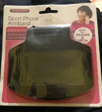 NEW BLACK MOBILE PHONE ARMBAND 4 Sport~ Running GYM Pouch/Cover Fit iPhone 5 MP3
