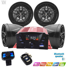 12V Motorcycle UTV ATV marine Anti-theft speakers Bluetooth audio Amplifier MP3