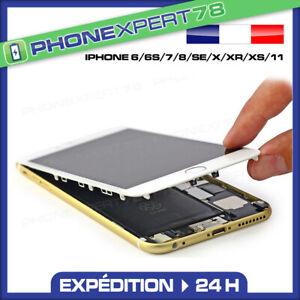 ECRAN LCD VITRE TACTILE SUR CHASSIS COMPATIBLE IPHONE 6 6S 7 8 PLUS X XS XR 11