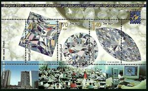 ISRAEL 2001. BÉLGICA WORLD STAMP EXHIBITION. The Diamond Industry. SG MS1550