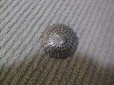"""Vintage Round Silvertone  Scarf Clip  ~ 1 5/8"""""""
