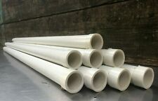 NEW -32 FEET- Antenna Tower Mast Pole-4' WHITE FIBERGLASS-LOT of 8 FOUR FOOT SEC