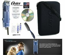 Oster Turbo A5 2 Vitesse Clipper&10, 10 Large Lame Kit-Case, Dvd-Dog, Horse Soin