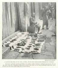 1917 Native Dr At Wu Hu China With His Medicines Spread On A Sheet