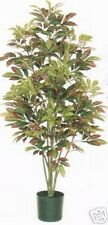 ARTIFICIAL CROTON TREE 5' SILK POT BUSH PLANT TROPICAL