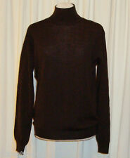 "CLASSIC POLO by RALPH LAUREN BROWN WOOL TURTLENECK ""L"" MADE IN ITALY"