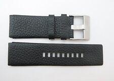 Diesel Mens Watch Band Black Leather Strap Stainless Steel Buckle DZ1149