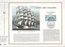 DOCUMENT CEF PREMIER JOUR  1973  SERIE DES VOILIERS  LE 5 MATS  FRANCE 2