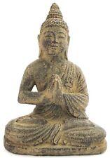 Thai Bouddha FIGURINE EN PIERRE 22 cm massif statuette statue sculpture jardin