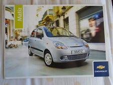 CHEVROLET MATIZ Opuscolo modello 2006 anno di Regno Unito mercato PUB APR 2005