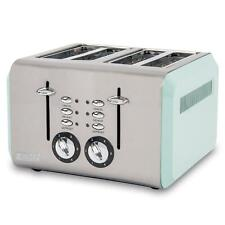 Haden Cotswold 4 Slice Sage Toaster Wide-Slot Variable Browning, Stainless Steel