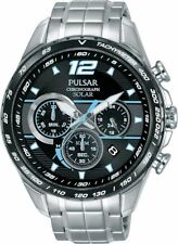 Pulsar Gents Stainless Steel Solar Power Chronograph Tachymeter Watch PZ5031