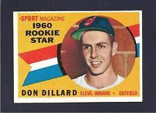 VINTAGE 1960 TOPPS Don Dillard RK #122 Cleveland Indians EM CREASE FREE!!