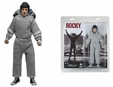 "NECA ROCKY RETRO CLOTHED 8"" inch ROCKY BALBOA ACTION FIGURE / DOLL in SWEATSUIT"