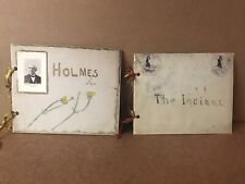 Antique 1901 Two Hand Written School History Reports Ephemera on Indians/Holmes