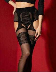 FIORE Amour Sauvage Luxury 20 Denier Super Fine Decorative Suspender Tights