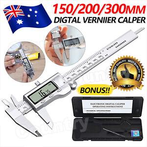 Stainless Steel Electronic Digital LCD Vernier Caliper Micrometer 150/300mm 6''