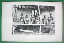 BURMA Burmese Artisans - Antique Print  Engraving