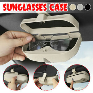 Multi-function Sun Visor Sunglasses Case Card Bill Storage Bracket Box Daily Use