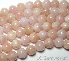 "15"" MORGANITE Pink AQUAMARINE BERYL 12mm Round Beads NATURAL /M12"