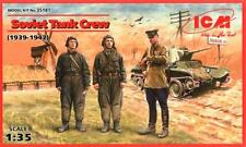 WW II Ejército Rojo/tanque soviético Crew 1939-42 (para BA 10/20, T-26, BT-2/5/7) 1/35 ICM