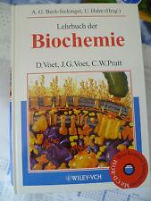 """Buch mit CD-ROM """"Lehrbuch der Biochemie"""" Voet Pratt Studium NEU Wiley-Vch"""
