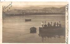 ANCONA  Viagg. 1910 - Pescatori con le reti - CARTOLINA FOTOGRAFICA_Ed. E. R. G.