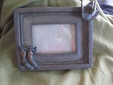 "Western Picture Frame Boots and Hat Resin Material 10"" x 8 1/4"""
