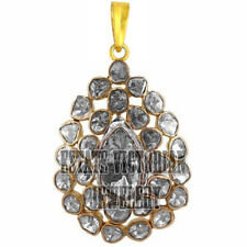 Estate Victorian 4.10Ct Real Antique Cut Diamond Silver Jewelry Gorgeous Pendant