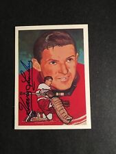 1987 HOCKEY HALL OF FAME CARD HARRY LUMLEY  AUTOGRAPHED