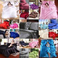 OFFER 1000 TC Soft Satin Silk Bedding Scala Hotel Collection Duvet/Sheet/Pillow