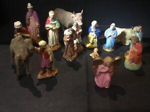15 santons anciens Creche