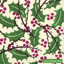 Emma Bridgewater lunch napkins Holly and Berry Winter Christmas - 33 cm square