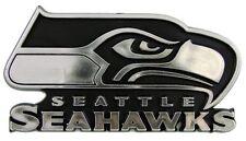 Seattle Seahawks Auto Emblem Silver Chrome NEW Truck Emblem