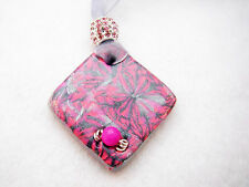 OOAK Hand made Polymer clay gemstone pendant