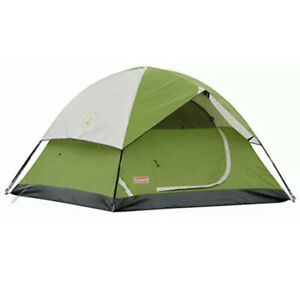 Coleman Sundome 2 Person Dome Tent W/ Rainfly, 7'x5' Sleeping, Light Compact New