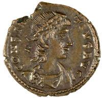 Constantius II Ae4 Reduced Centenionalis - GLORIA EXERCITVS - EF