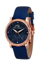 Porsamo Bleu Genevieve Blue Topaz Rose Gold Case Watch NEW $1,800 Gorgeous