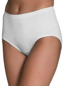 Womens Fruit of the Loom White Cotton Briefs