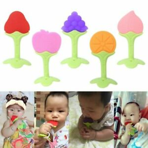 Silicone Chew Biting Toy Cute Fruit Shape Baby Teether Teething Teether Chew Toy