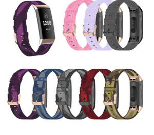 Replacement Woven Nylon Watch Band Strap Wristband For Fitbit Charge 2 3 SE 4