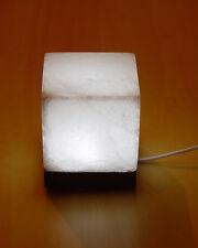 Cube Salt Lamp White W/B USB Himalayan Rock Salt Stone Square Shape Light