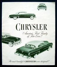 Prospekt brochure 1953 Chrysler Windsor * New Yorker * Imperial (USA)