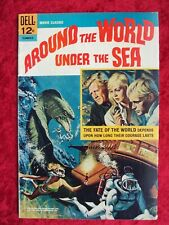 """MOVIE CLASSICS """"AROUND THE WORLD UNDER THE SEA"""" 1966 DELL SCI-FI MOVIE COMIC"""
